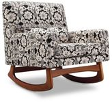 Nurseryworks Nursery Works Sleepytime Rocker in Cotton Bazaar Fabric with Walnut Legs