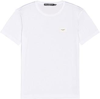 Dolce & Gabbana Short Sleeve Tee in White   FWRD