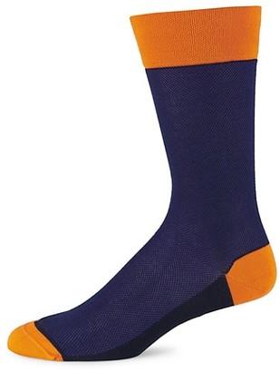Marcoliani Milano Contrast Pique Cotton Socks