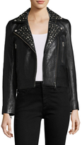 Manoush Leather Perfecto Studs Coat
