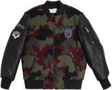 John Galliano Camouflage Wool Bomber Jacket
