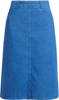 Stella McCartney High-rise denim midi skirt
