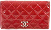 Chanel Quilted Patent Yen Wallet