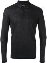 Majestic Filatures longsleeved polo shirt - men - Silk/Linen/Flax - L