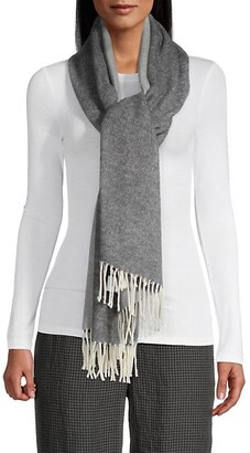 Eileen Fisher Two-Tone Wrap Scarf