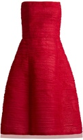 Oscar de la Renta Pleated silk-organza dress