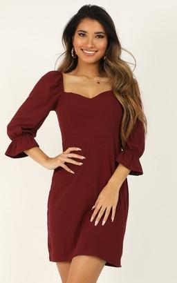 Showpo Deep Search Dress in wine - 4 (XXS) Dresses