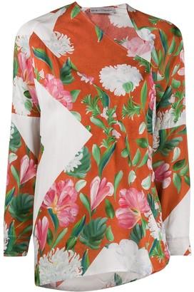 Palmer Harding Asymmetric Floral Print Top