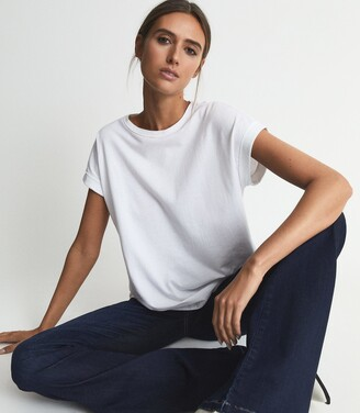Reiss Tereza - Cotton-jersey T-shirt in White