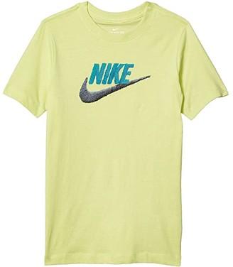 Nike Kids NSW Faux Embroidery Tee (Little Kids/Big Kids) (Limelight) Boy's T Shirt