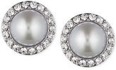 Givenchy Silver-Tone Imitation Pearl and Crystal Stud Earrings