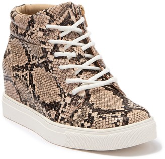 Abound Raegin Snakeskin Print Hidden Wedge Sneaker