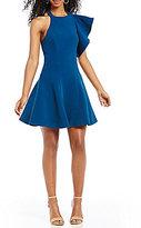 C/Meo Heart Commands One-Shoulder Flutter Dress