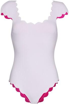 Marysia Swim Reversible Scalloped Swimsuit