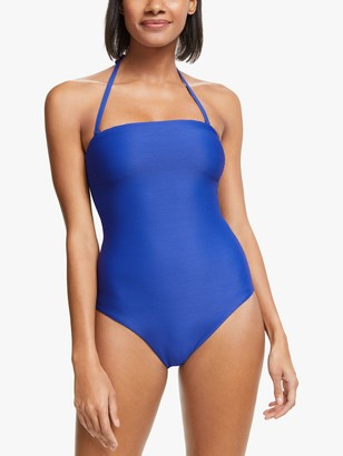 John Lewis & Partners Capri Ribbed Clasp Back Swimsuit