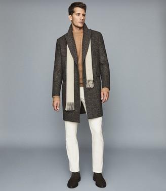 Reiss AIRE Cotton Blend Corduroy Trousers White