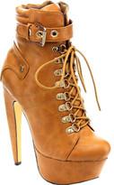 Westbuitti Women's Venisha-MC Platform Ankle Boot