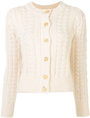 Chanel Pre Owned Faux-Pearl Embellished Knitted Cardigan