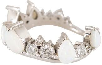 Fernando Jorge Opal and Diamond Electric Crown Ring