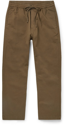 Barena Tapered Cotton-Twill Drawstring Trousers