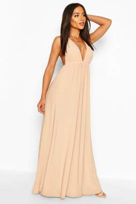 boohoo Plunge Maxi Dress