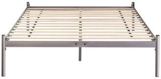 Dreams Bespoke Lucas Silver Minimalistic Metal Platform Bed Frame, Kin