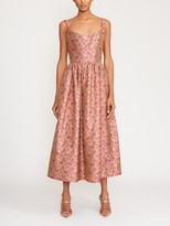 Thumbnail for your product : MARKARIAN Le Couer Sleeveless Brocade Corset Midi Dress