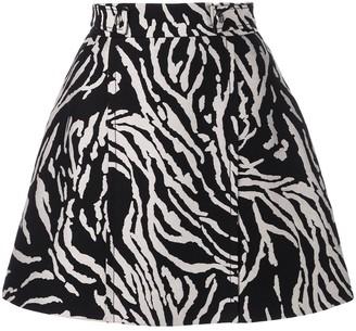 Proenza Schouler Zebra Cotton Jacquard Skirt