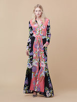 Diane von Furstenberg Floor Length Shirt Dress