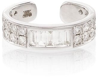Anita Ko 18kt White Gold Baguette Diamond Ear Cuff