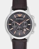 Emporio Armani Dark Brown Chronograph Watch