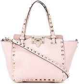 Valentino Garavani Valentino - mini Rockstud trapeze tote - women - Calf Leather/metal - One Size
