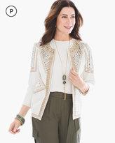 Chico's Embellished Linen Jacket
