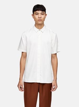Topman Premium Ecru Tencel Slim Shirt