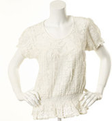 Nine West Kacy Lace Peasant Top