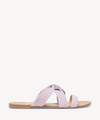 Sole Society Women's Emiranza Twisted Flat Sandals Washed Lavender Size 5 Suede From