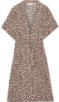 Fleur Du Mal Leopard-print Silk-satin Robe - Leopard print