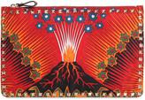 Valentino Rockstud Volcano Nylon Medium Pouch