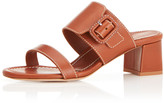 Marion Parke Bree Wide Buckle Leather Mule Sandals