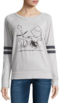 Hybrid Tees Peanuts Burnout Sweatshirt- Juniors