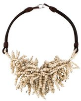 Brunello Cucinelli Bead Fringe Necklace