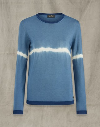 Belstaff Angela Crew Neck Jumper Blue
