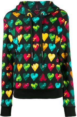 Versace Love print hooded sweater