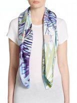 Saks Fifth Avenue Tropical Paradise Silk Scarf