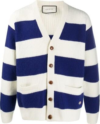 Gucci striped V-neck cardigan