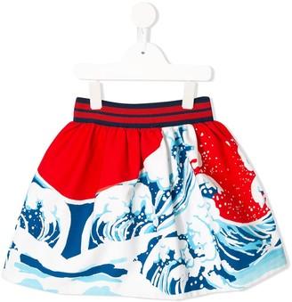 Stella Jean Kids Wave Print Skirt