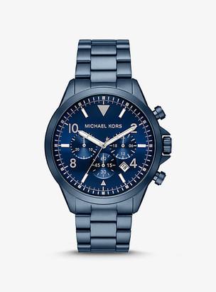Michael Kors Oversized Gage Blue-Tone Watch