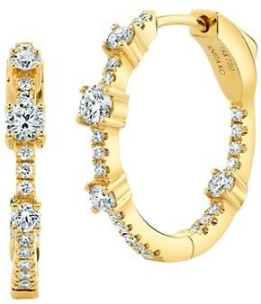 Anita Ko 18K Yellow Gold & Diamond Inside-Outside Collins Medium Hoop Earrings