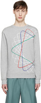Carven Grey & Multicolor Spiral Sweatshirt