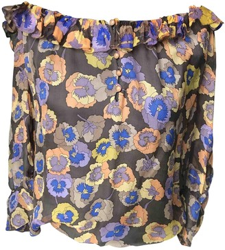 Missoni Blue Silk Top for Women